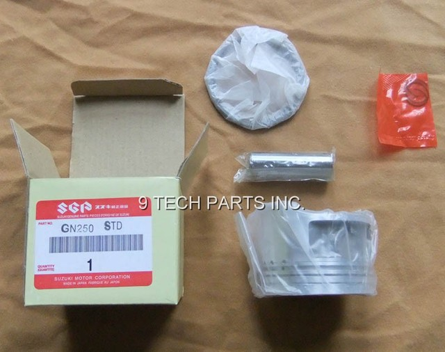 12111-38201 GN250 DR250 GZ250 TU250 SP250 PISTON KIT WITH RINGS GN TU SP 250 STD Oversize 0.25 0.50 0.75 1.00