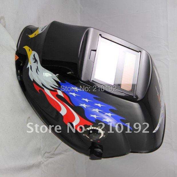 USA flag apperance Manufacture selling Li battery+ solar auto darkening welding protection face mask for the welder use(China (Mainland))