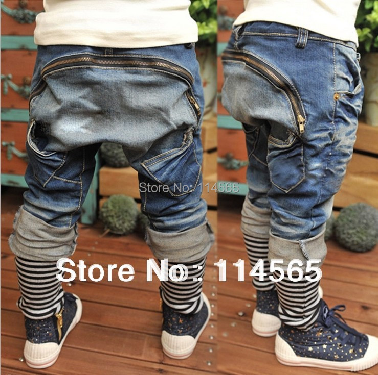 !!! New arrive Baby Kids Clothing Children's pants Boy's Harem Pants PP jeans child trousers - Black Tuesday store