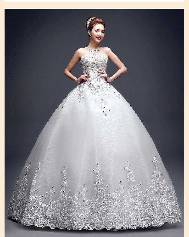 Без бретелек халат де Mariage кружева свадебное платье мода Vestido де Noiva