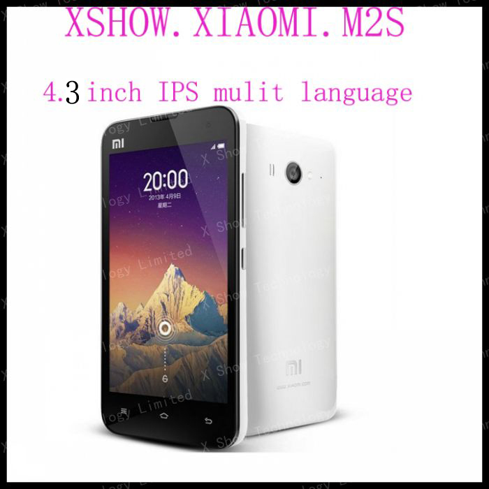 Original Xiaomi Mi2S M2S Qualcomm Quad Core Smart Phone 2GB RAM 32GB ROM 4.3'' IPS 1280*720px Screen 13mp  56 Language(China (Mainland))