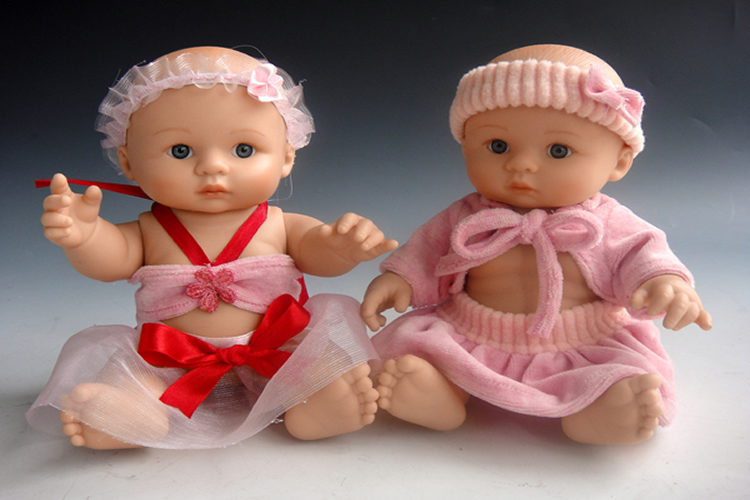 mini full silicone reborn baby doll toys new likereal baby doll babies