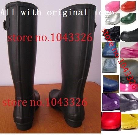 Гаджет  Drop shipping 2015 1pair top quality new H brand women men tall knee-high rubber rainboots Welly rain boot water shoes None Обувь