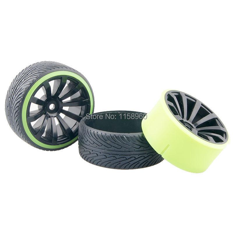 RC Plastic Hard Tires Drift Tyre Wheel Rim 601-5010 Fit RC HSP HPI 1:10 On-Road Drift Car(China (Mainland))