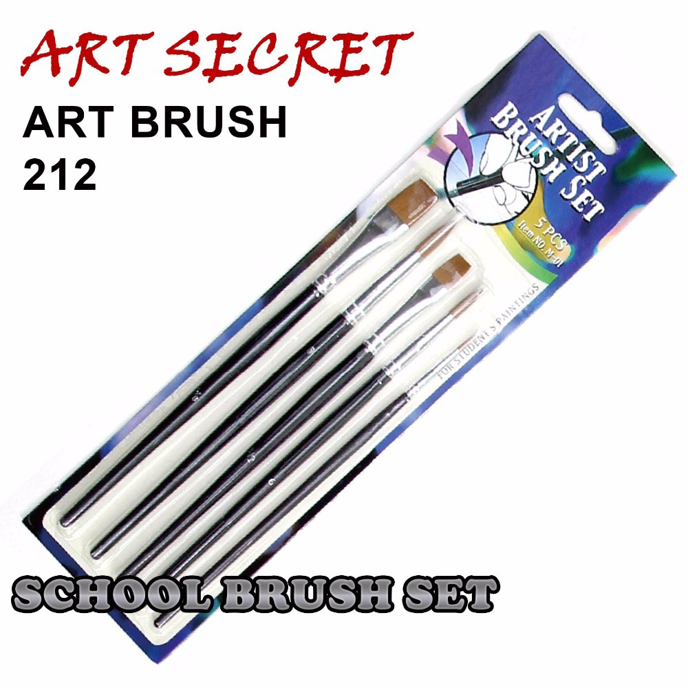 High quality paint brushes freestyle watercolor brush school brush set aluminum ferrule wooden - High quality exterior paint set ...