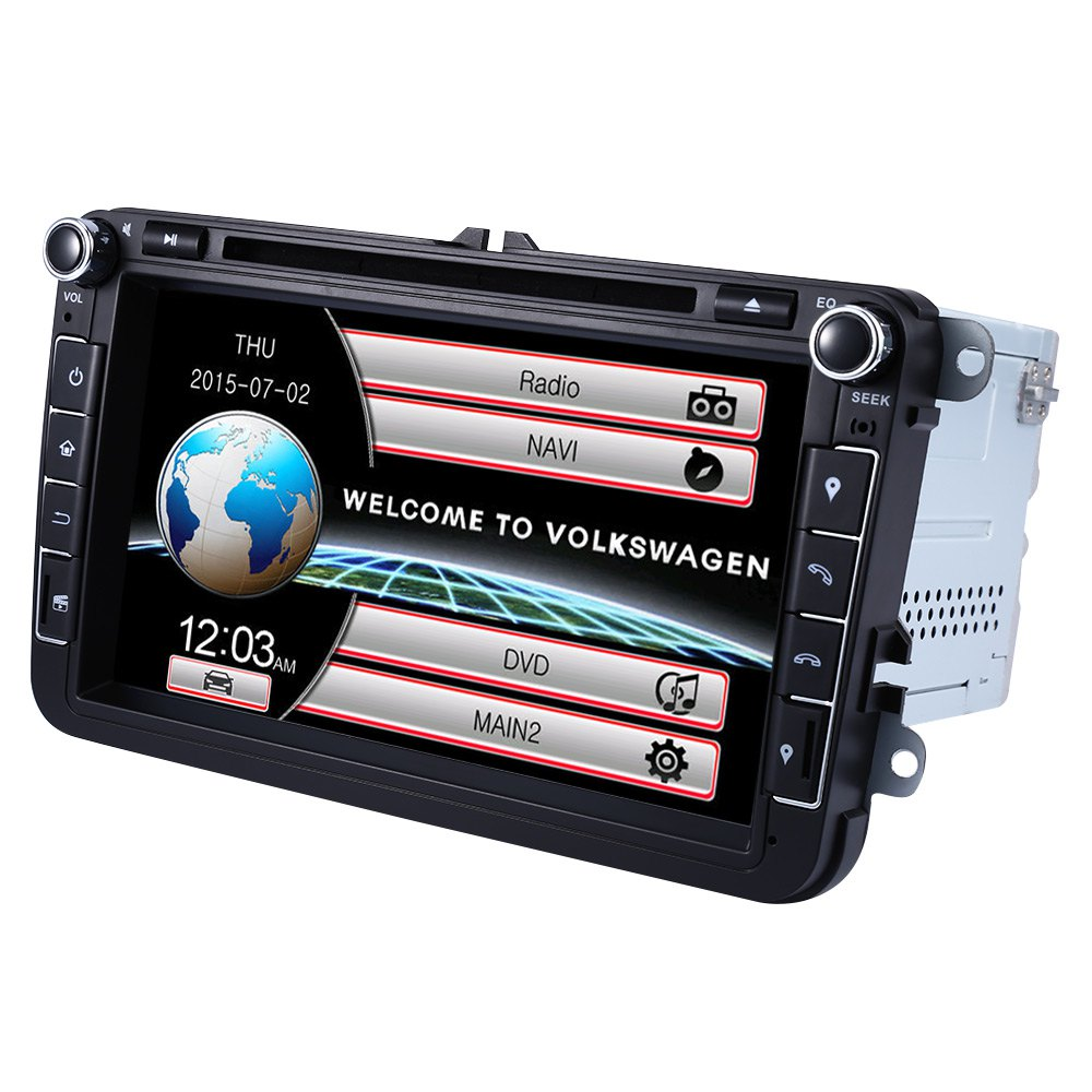 """2 Din 8"""" Touch Screen WCE Car DVD Video Player GPS Navigation In-dash Auto Radio Audio Stereo With TV Function For Volkswagen(China (Mainland))"""