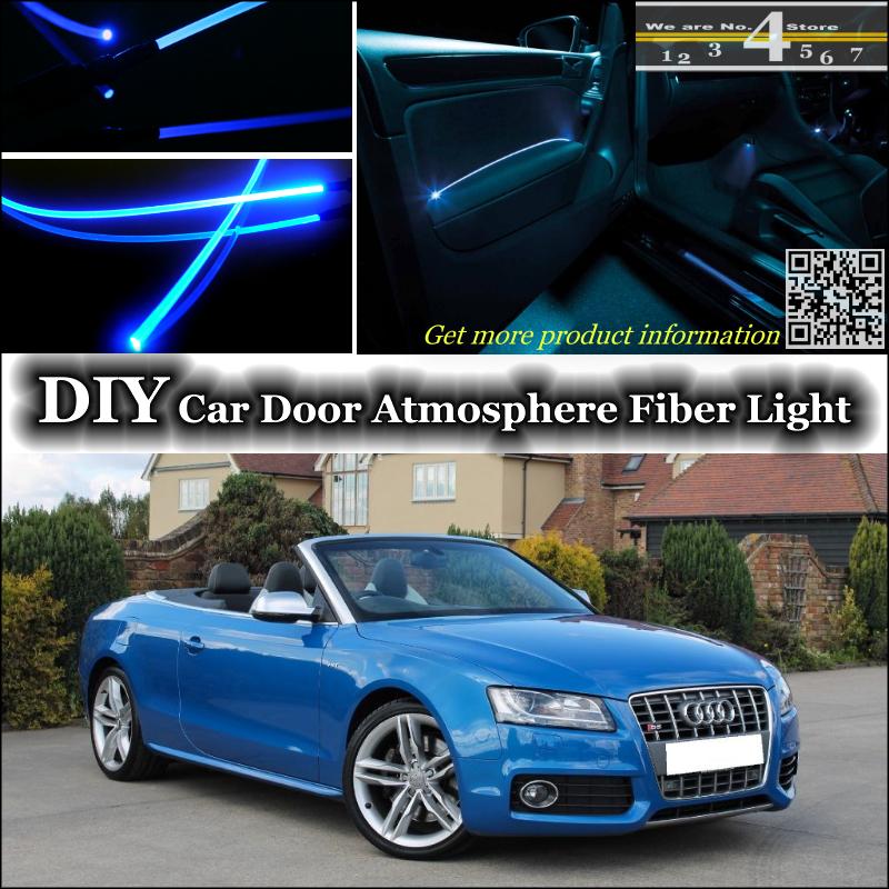Интерьер освещенности тюнинг атмосфера волоконно-оптический ленточные огни для Audi A5 S5 RS5 внутри дверная панель освещения не EL свет