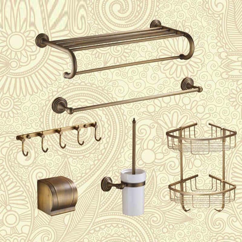 Brand luxury brass bathroom sets wall hang bathroom for Bathroom accessories towel holder