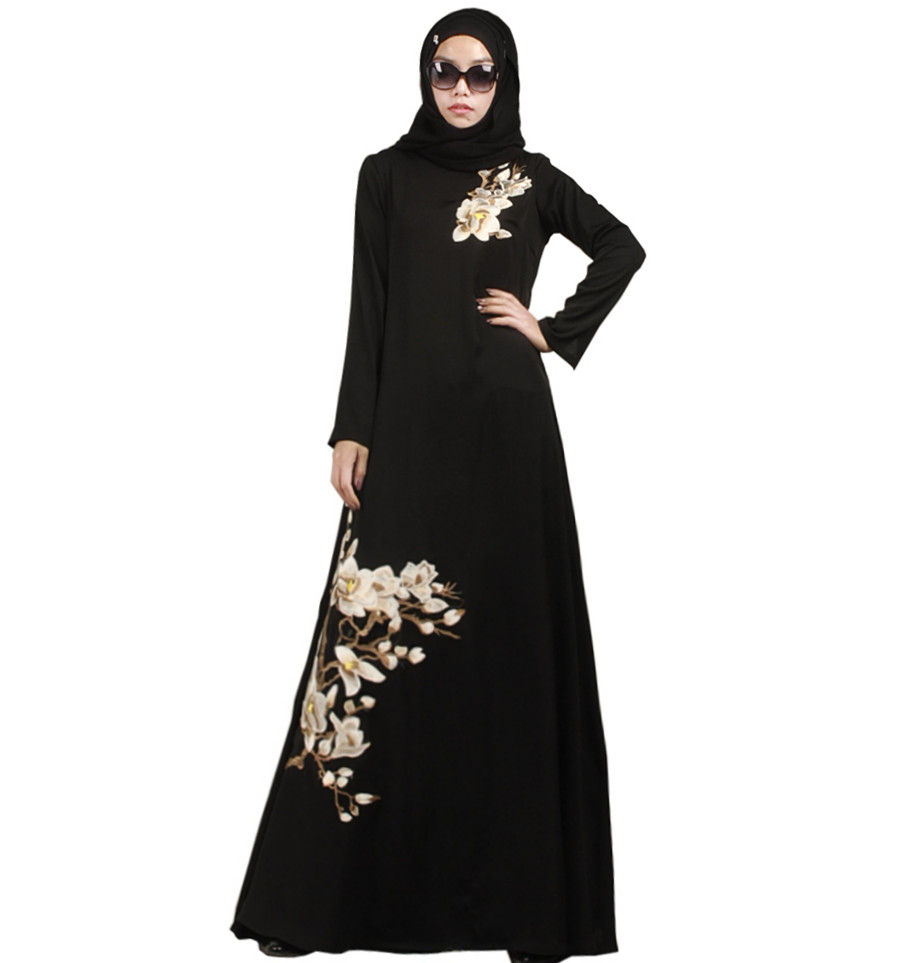 Creative Women Islamic Clothing Long Dubai Jalabiya Dress Moroccan Kaftan