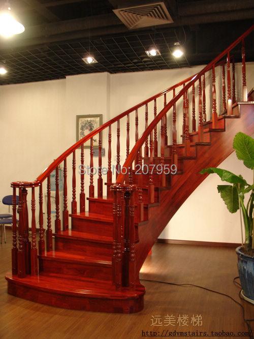 hotsaled escalera de madera para interiores