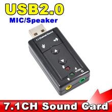 External USB AUDIO SOUND CARD ADAPTER VIRTUAL 7.1 ch USB 2.0 Mic Speaker Audio Headset Microphone 3.5mm Jack Converter(China (Mainland))
