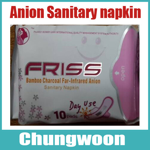 10Packs Mixed 6D+3N+1P Set Friss Bamboo Charcoal Far-Infrared Multiple effect Anion Sanitary Napkin, Sanitary Pads Panty Liners(China (Mainland))