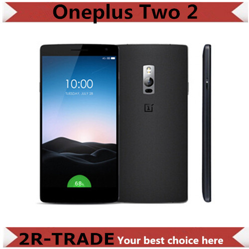 Original OnePlus Two 2 4GB RAM 4G LTE Mobile Phone Snapdragon 810 Octa Core 64GB ROM Fingerprint ID 5.5'' 1920*1080P 13MP Camera - 2R-TRADE store