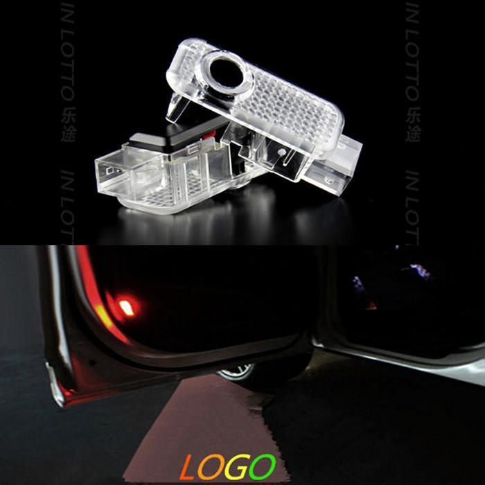 LED Car Door Welcome Light Laser Car Door Shadow led Projector Logo For AUDI A3 A4 A5 A6 A7 A8 R8 Q5 Q7 Q3 TT Sline RS(China (Mainland))