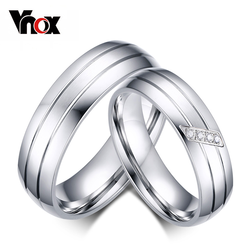 Wedding Rings For Male And Female Fashion Wedding Rings Stainless Steel Ring Female Male