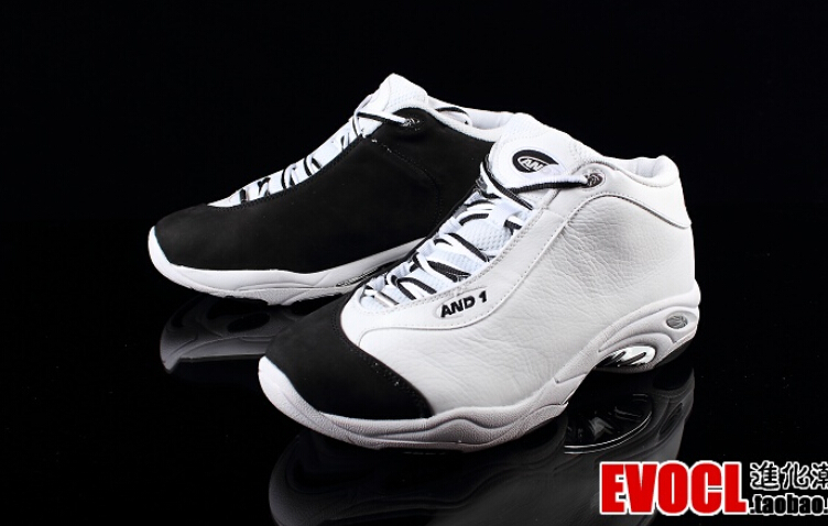 Free shipping 100% authentic Tai Chi AND1 basketball shoes 2016 new breathable rubber white and black cotton size 10.5 12 13(China (Mainland))