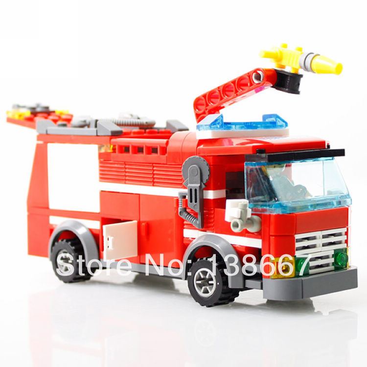 206+ pcs Kazi Fire Fight Truck Building Blocks Assembling Toys Minifigures Children model compatible with gift/mega bloks(China (Mainland))