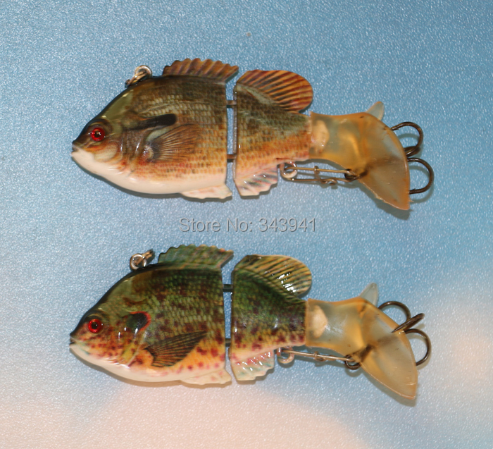2 Sections Fishing Lure Soft Tail VIB Spinner Bait Shad Fish Lifelike Hard Hook Tackle - discover fun store