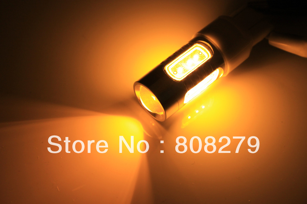 2pcs/Pair Bau15s 581 PY21W  High Power Car Turn Signal Bulb 7.5W Yellow