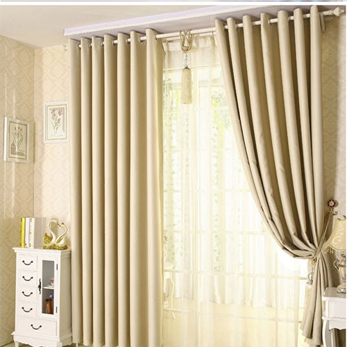 Rideau salon beige marron avec des id es for Cortinas para salon beige