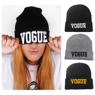 2015 Winter Raiders Beanie 3D Stereo VOGUE Letters Print Female Hip-hop Wool Cap Cycling Warm Knitted Hat Men Women Hats(China (Mainland))