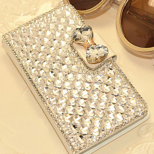 Luxury Bling Rhinestone Diamond samsung galaxy Note4 Note3 note2 S4 S5 mini S6 S3 Edge N9100 wallet flip leather case - GLOBAL Mall TRADE(HK store CO., Ltd.)