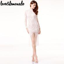 Buy Love&Lemonade Geometric Figure Lace Fringed Dress White TB 9783 for $29.99 in AliExpress store