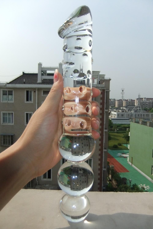 Стеклянный дилдо мастурбация 2 фотография