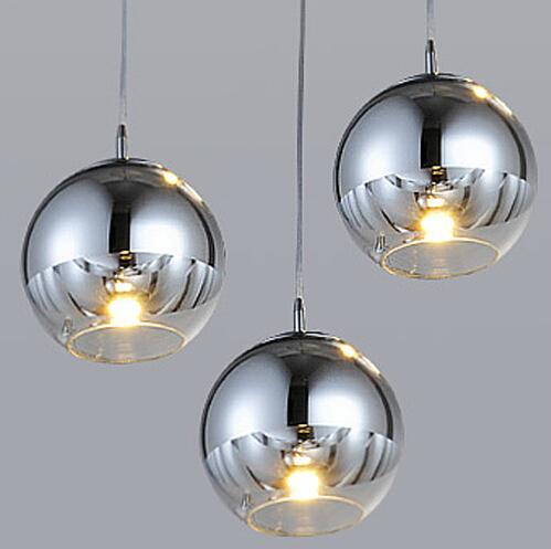 NEW Tom Dixon Copper Shade Mirror Chandelier Ceiling Light E27 LED Pendant Lamp Bulb Modern Christmas Glass Ball Golden Lighting(China (Mainland))