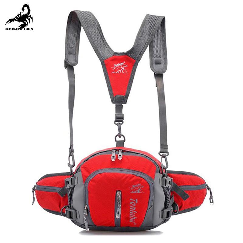 Fanny Packs Men Multicam Outdoor Men And Women Ride Climbers Kettle Big Fanny Pack Travel Backpack Camera Bag 7 Colors(China (Mainland))