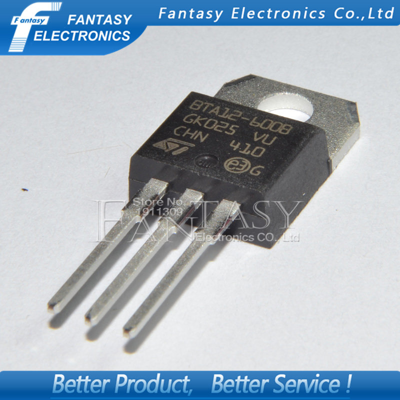 100PCS BTA12-600B TO-220 BTA12-600 TO220 BTA12 new and  original IC free shipping