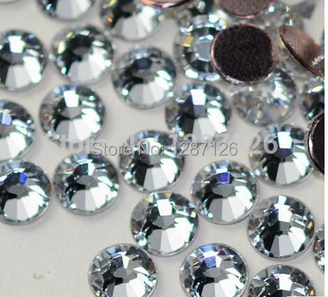 ss3-ss40 Clear crystal Non Hotfix Crystal 3D Nail Art Decorations Flatback Rhinestones decorations for nails(China (Mainland))