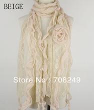 FREE SHIPPING,lace scarf,Spring&Summer scarf,patchwork shawl,ladies scarf,fashion shawl,2013 new design,sizeis 38*180cm(China (Mainland))