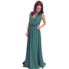 Buy Elegant Fashion Sexy Floor Length Women Party Maxi Dress Solid Color Sleeveless Tied Waist Bandage Boho Beach Dresses Store) for $12.37 in AliExpress store
