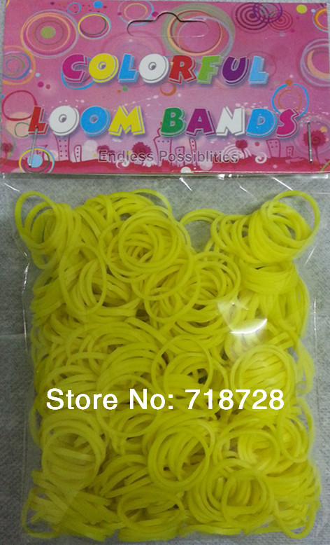 2014 DIY 60Yellow rubber bands include 24 S clips - Colored franchise store