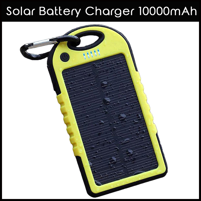 Solar Battery Charger 10000mAh Waterproof Solar Charger Portable Mobile Phone Power Bank For Samsung External Battery Backup(China (Mainland))