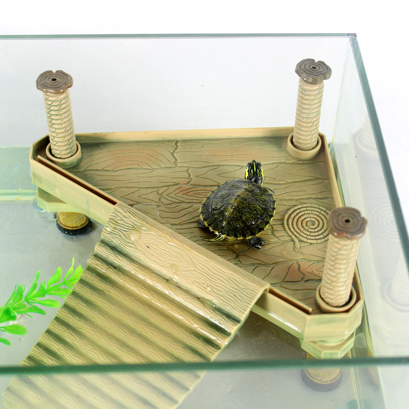 Turtle climbing bask island platform aquatic pet supplies for Aquatic decoration
