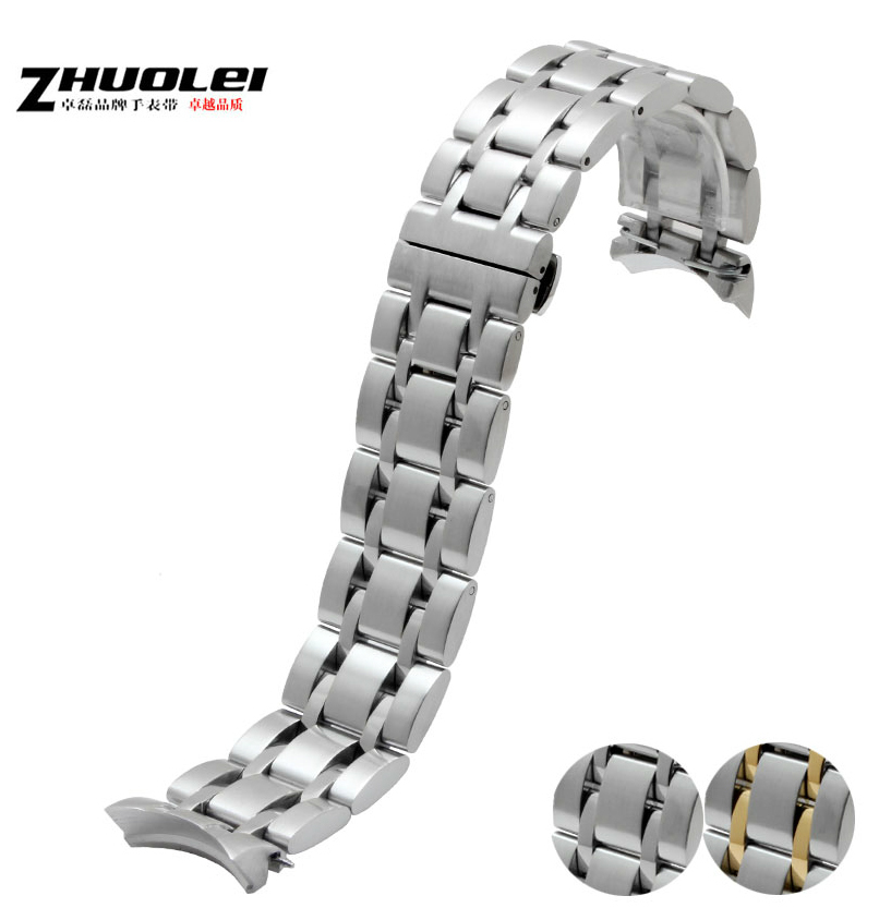 Watch Accessories 22mm 23mm 24mm New Mens Silver Solid Stainless Steel Watch Band Strap Bracelets For T035(China (Mainland))