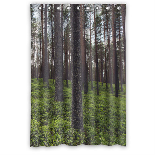 Green Forest Custom Shower Curtain 48 X 72 In Shower Curtains From Home Garden On Aliexpress