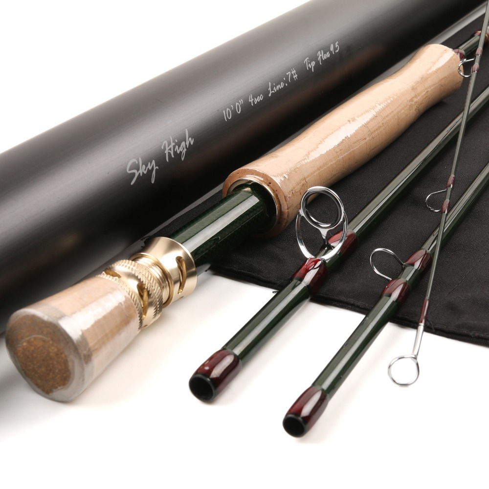 FREE SHIPPING Fly Fishing Rod Skyhigh 1074 IM12 Carbon Fiber Fast Action 10FT 7WT 4PCS Carbon Fly Rod<br><br>Aliexpress