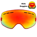 Kids Anti fog Ski Glasses Spherica Ski Goggles UV400 Double Lens Ski Snowboard Snow Motocross Goggles