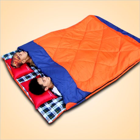 Luxury autumn and winter double sleeping bag outdoor ...