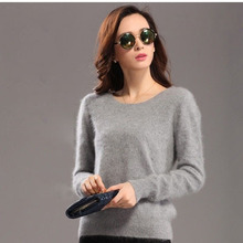 2016 New genuine mink cashmere sweater women pure cashmere pullovers sweater customized big size free shipping S168(China (Mainland))