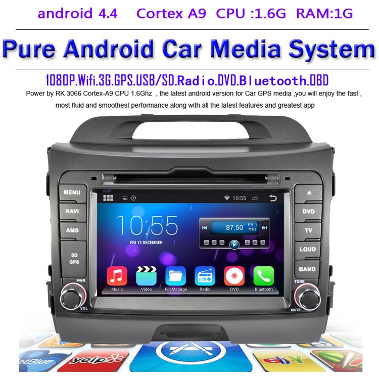 Автомобильный DVD плеер Hotaudio 4.4.4 Kia SPORTAGE 2010 /dvd GPS navi DHL EMS жертвуя пешкой dvd