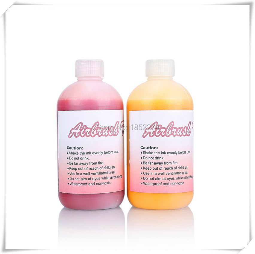 500ml/Bottle Airbrush Tattoo Beauty Makeup Finalized Ink For Temporary Body Art Paint Lasting Long Time Free Shipping