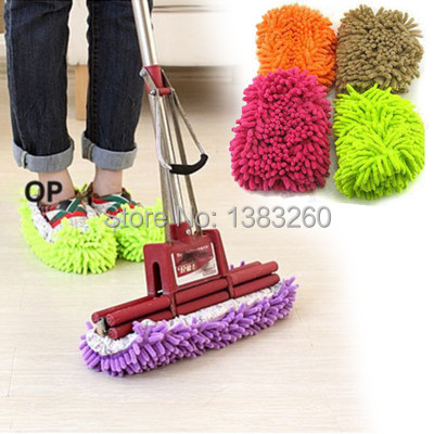 (Track Number) Free Shipping Lazy Dust Cleaner Slipper Shoes Cover House Bathroom Floor Cleaning Mop uMU3Ec(China (Mainland))