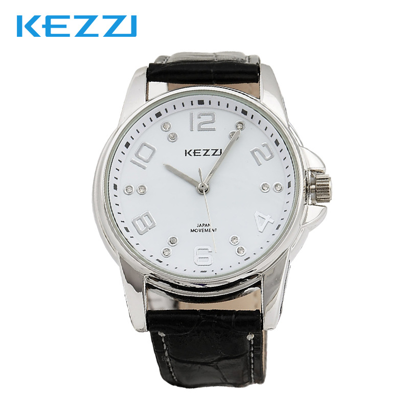 Hongkong Ke KEZZI watches manufacturers selling high-end fashionable purple belt on behalf of 1 couples on the table<br><br>Aliexpress