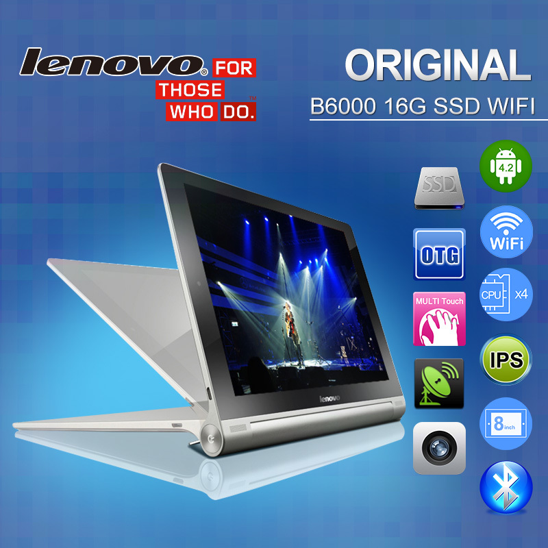 Original Lenovo Tablet PC YOGA B6000 WiFi 8 1280 x 800 IPS Screen MTK8125 Quad Core