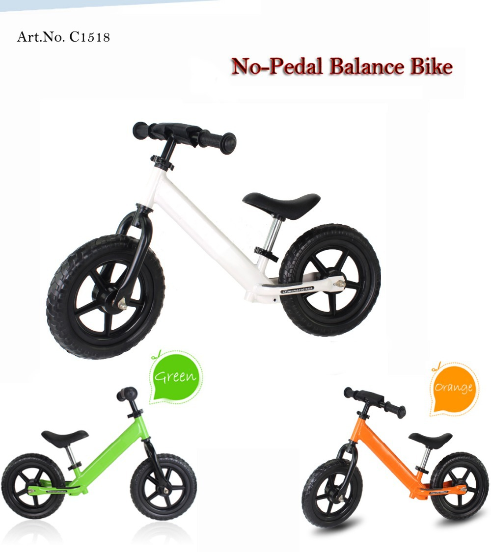 Balance Bike 12 Inch 2-6 Years Old Multicolors(China (Mainland))