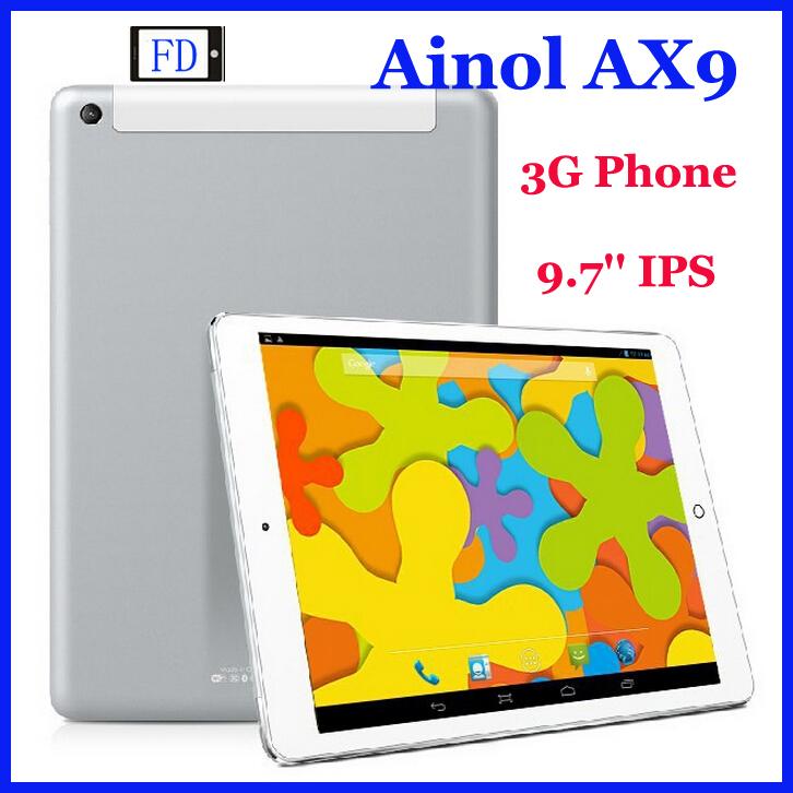 Планшетный ПК Ainol AX9 3G 1 GB + 8 GB 9,7' IPS Android 4.2 MTK8382 3G Ainol PC GPS Wifi OTG WCDMA смартфон bqs 5050 strike selfie grey mediatek mt6580 1 3 8 gb 1 gb 5 1280x720 dualsim 3g bt android 6 0